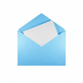 Blue envelope