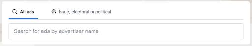 Facebook Ads Search Bar