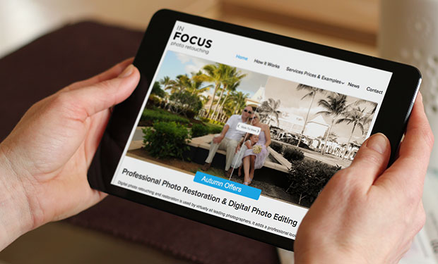 in focus tablet device
