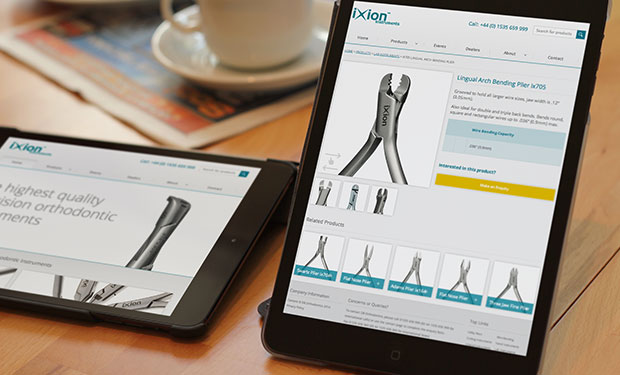 ixon website on tablet device