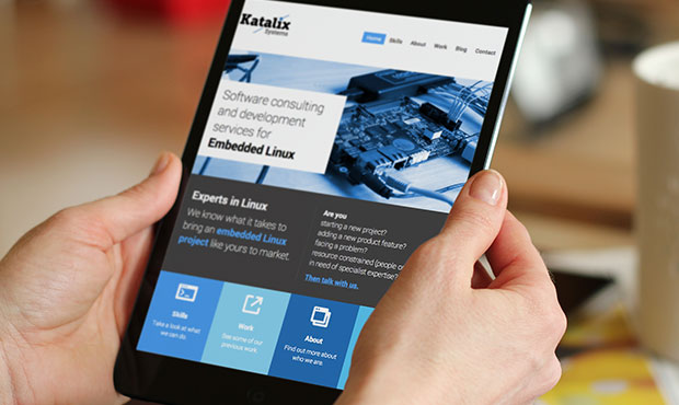 katalix website on tablet