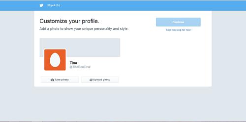 create twitter profile