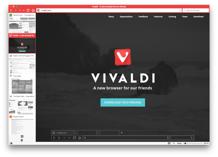 vivaldi web browser