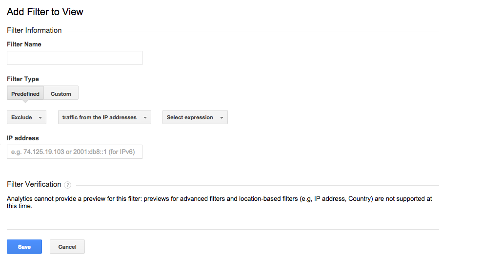 ip filtering google analytics