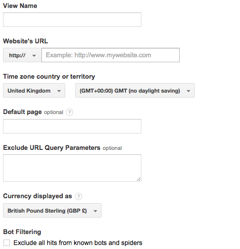 view setting google analytics