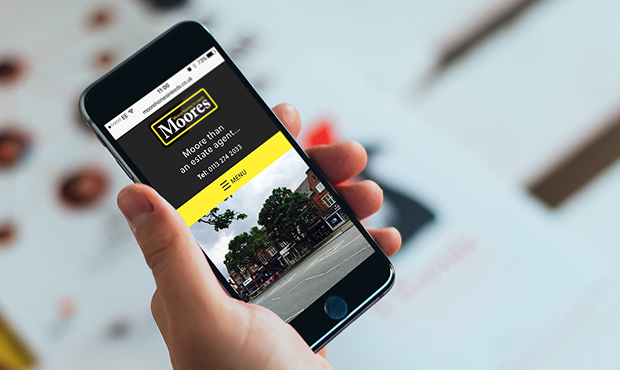 mobile with moores estate agents website