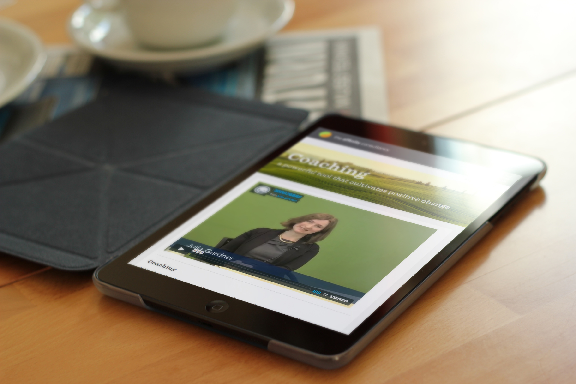 affinity consultancy on a tablet device
