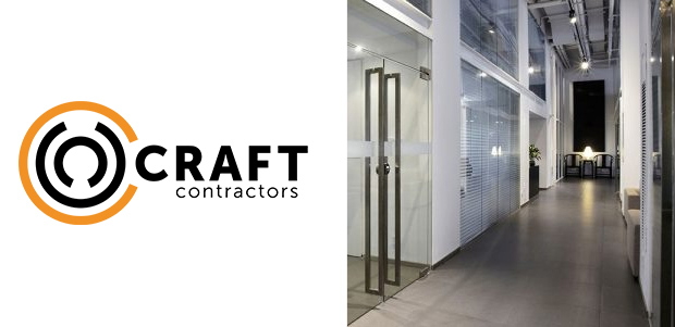 craft contractors logo and building