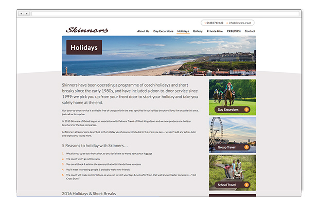 skinners travel in web browser