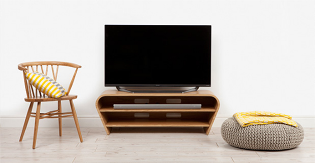 image of television with stand