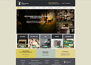 the english log company website
