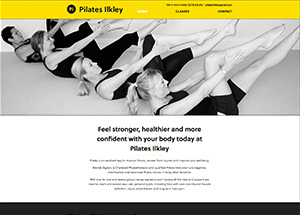 ilkley pilates website from browser
