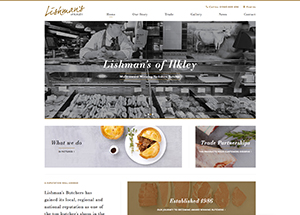 Lishman's website homepage