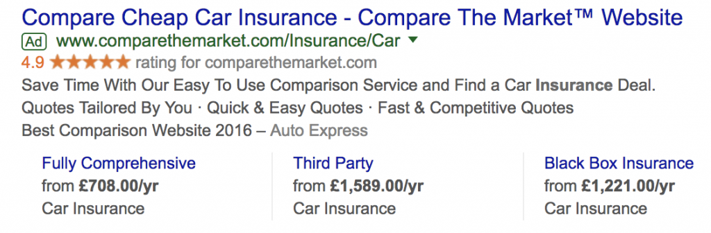 insurance advert example
